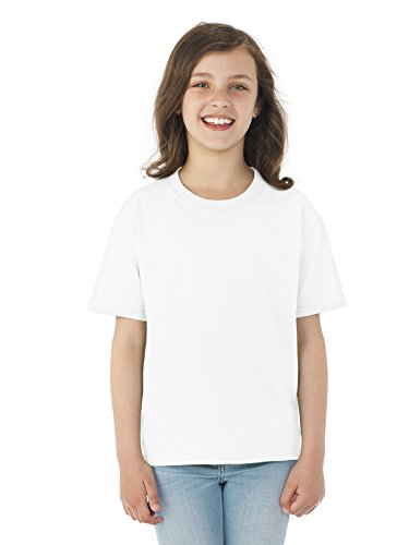 Fruit of the Loom Heavyweight Youth Short Sleeve T-Shirt - WHITE - medium