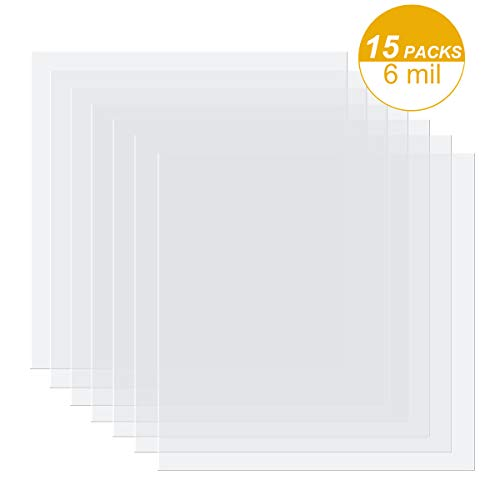 15 Pieces 6 mil Blank Stencil Material Mylar Template Sheets for Stencils, 12 x 12 inches (6 mil)