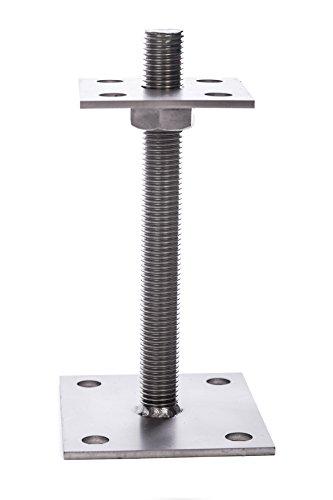 Pfostenträger Edelstahl 25-130mm höhenverstellbar PT130