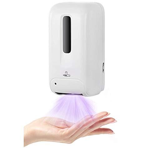 KUTO 1000 Ml Esterilizador de Pared, Máquina de Desinfección de Manos sin Contacto Limpiador Automático de Manos por Inducción Dispensador de Desinfectante de Manos de Pared