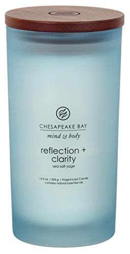 Chesapeake Bay Candle PT31909 Scented Candle, Reflection + Clarity (Sea Salt Sage), Large