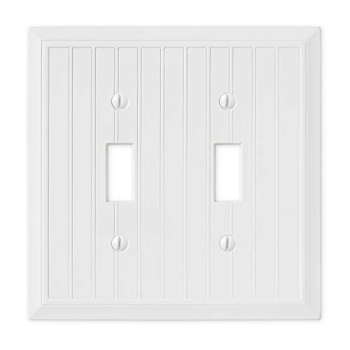 Double Toggle - White Polished Light Switch Cover Cottage Decorative Outlet Cover Wall Plate