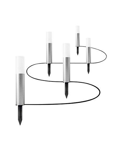 Osram LED Endura Garden Pole Mini Garten-Leuchtenkette, für Außenanwendungen, Warmweiß, 5 Pylonen, Höhe: 22, 7 cm