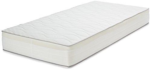 AmazonBasics - Materasso extra comfort a 7 zone a molle, Morbido, 90 x 200 cm