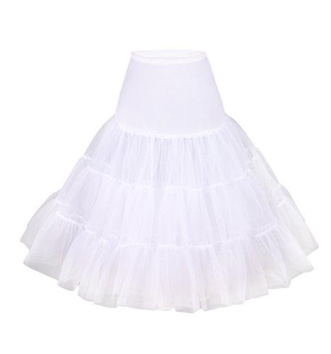 """Flora Flora 50s Vintage Rockabilly Petticoat Skirt, 25"""" Length Net Underskirt (EU 42-50 (L-XXL), Weir)"""