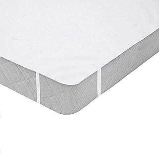 iweed Protector de Colchón Cubre colchón Acolchado Impermeable Tela 100% Algodón Oeko Tex - Cubre Colchón Hipoalergénico, Anti-Bacteriano, Anti-Acaros (60 * 120cm)