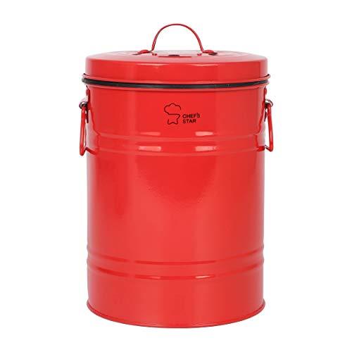 Chef's Star Kompostierbehälter für den Außenbereich, Küchen-Kompostbehälter, Arbeitsplatte, Recyclingbehälter für Küche (rot)