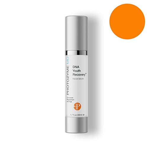 PHOTOZYME DNA Youth Recovery Anti Aging Facial Serum   DNA Repair Enzymes   Beauty Skincare Treatment for Fine Lines, Wrinkles, Acne Scars   UV Dark Spot Corrector   1.7 Fl Oz