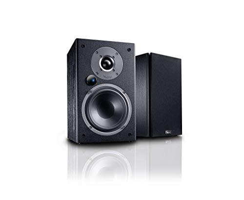 Magnat Monitor Active 2000, Bluetooth-Stereolautsprecher, Aktiv-Lautsprecher, Hochwertiger Phono-Vorverstärker, 1 Paar, Farbe:Schwarz