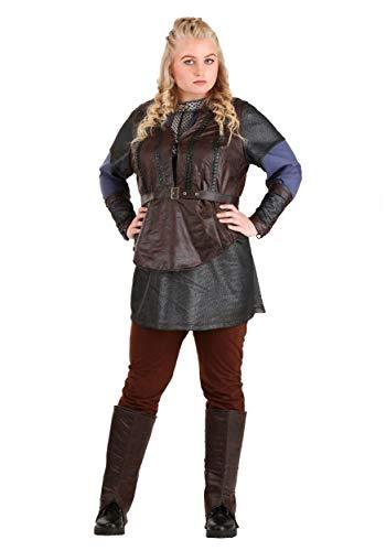 Vikings - Disfraz de Lagertha Lothbrok para mujer, Marrón, 2X