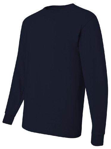 Jerzees T-shirt à manches longues épais 50/50, 2XL, J bleu marine