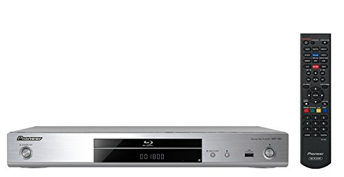 Pioneer BDP-180(S) Blue-ray Player (Wiedergabe von Blue-ray Discs, DVD, CD/CD-R/CD-RW und SACD, YouTube-Streaming-Client, 4K-UltraHD Upscaling, WLAN, USB, Miracast, DLNA zertifiziert), Silber