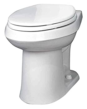 Gerber Plumbing VP-21-528 Gerber Viper Watersense High-Efficiency Elongated Siphon Jet Toilet Bowl Ada-Compliant 1.6 Gpf/1.28 Gpf White - 2463449