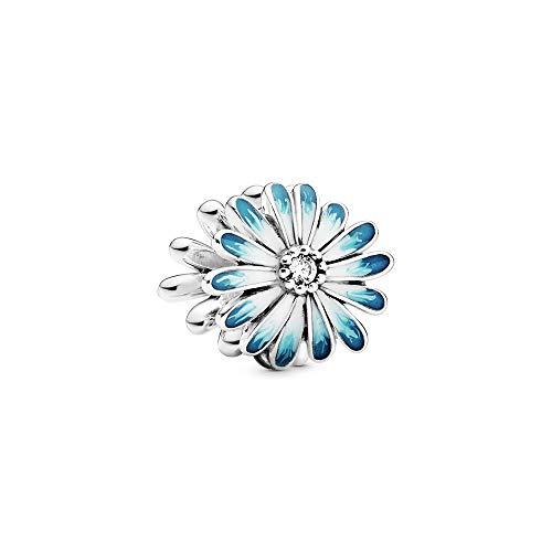 Pandora Blaues Gänseblümchen Charm, 1,1cm