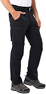 MIER Men's Convertible Pants Quick Dry Cargo Pants Lightweight Comfort Stretch for Hiking Travel, 7 Pockets