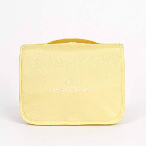 Voyage sac cosmétique sac de rangement hommes femmes voyage nécessaire organisateur maquillage trousse de toilette lavage bagage22,5 * 8,5 * 18,5 cm-jaune_22,5 * 8,5 * 18,5 cm