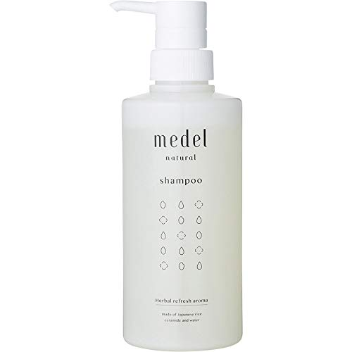 medel(メデル) 無添加 ノンシリコン シャンプー 【アミノ酸洗浄成分 さらさら ふんわり】 ハーバルリフレッシュアロマ 400ml