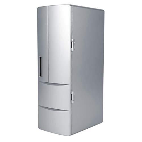 Mini frigorífico USB, minicongelador compacto, latas, enfriador de cerveza, calentador de bebidas, refrigerador para viajes, oficina, coche
