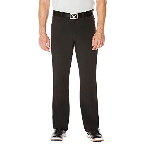 Callaway Men's Golf Performance Flat Front Five Pocket Pants, Black (002), 36'/32'