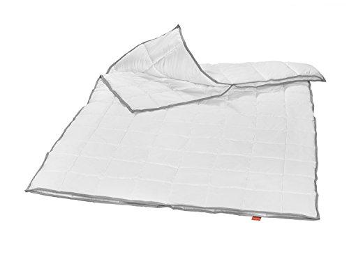 liebling 4-Jahreszeiten Steppbett Kassettendecke Bettdecke mit Top Cool Gewebe 135 x 200 cm, weiß