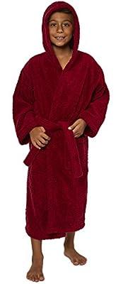 TurkishTowels Parador Hooded Terry Boys Bath Robe, 100% Cotton, Made In Turkey