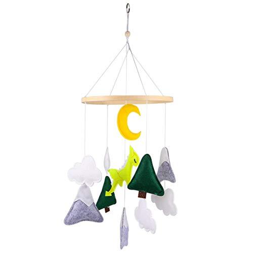 ADSE en Bois bébé Plafond Mobiles Berceau Suspendu Nuage Lune Renard décorations en Peluche Jouets en Peluche pour Chambre d'enfant Enfants lit Chambre bébé Douche fête Cadeaux