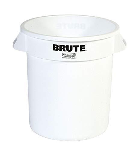 Rubbermaid runder Brute Container 37,9 Liter weiss (76012491) Abfalleimer Mülleimer Küche Gastronomie