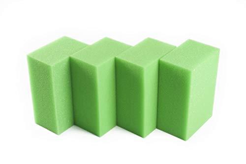 LTWHOME Compatible en Mousse Convient pour Oase Biotec Screenmatic 18 & 36 Remplacement Etang Excellent Vert Mousseux Filtre Éponge (Paquet de 4)