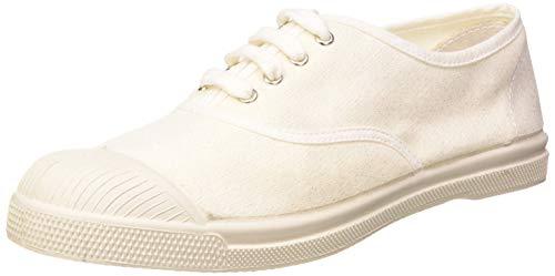 Bensimon Tennis Shiny Linen Femme, Zapatillas para Mujer, Blanco (Blanc 0101), 36 EU