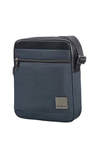 "SAMSONITE Hip-Square - Tablet Cross-Over M 7.9"" Bolso Bandolera, 25 cm, 3.5 Liters, Azul (Dark Blue)"