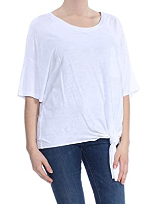Sanctuary Womens Echo Park Cotton Striped T-Shirt White L