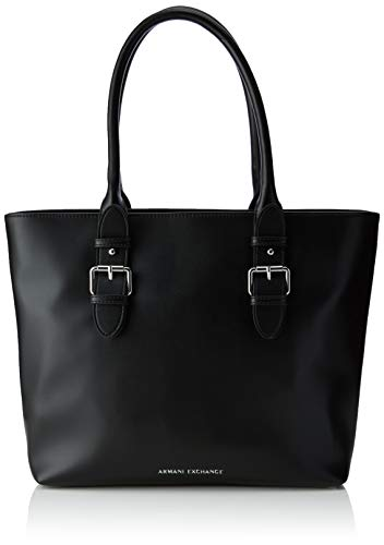 ARMANI EXCHANGE Shopping Bag - Borse Tote Donna, Nero (Black), 28x11x40 cm (B x H T)
