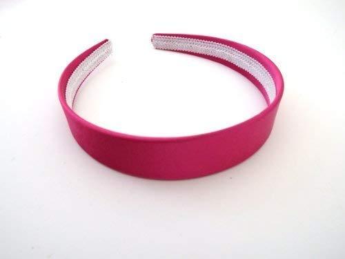 (Pink) - Wide Satin Headband Hair band Alice Band (Pink)