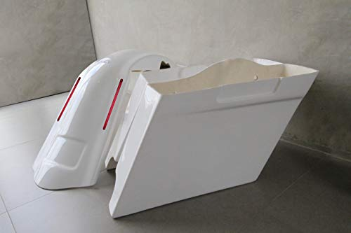 Fantastic Prices! Harley Davidson 4 extended stretched saddlebags and LED fender kit dual cut outs ...