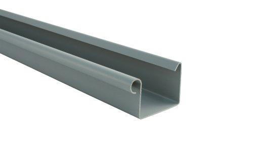 Dachrinne KASTENFORM Rinnensatz Regenrinne 2x600cm Komplett-Set mit wählbarer Farbe (Grau)