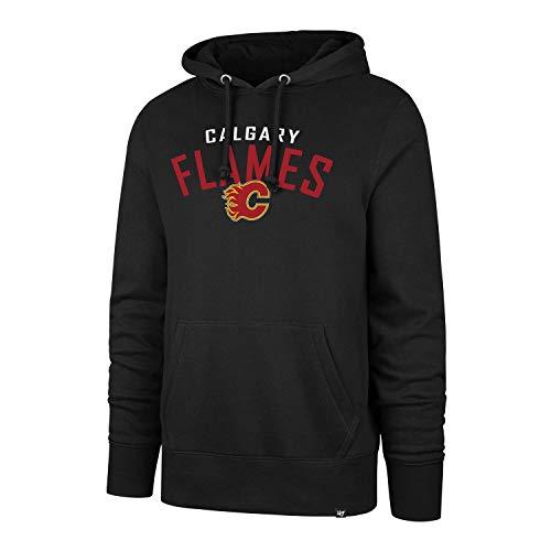 47 Brand Calgary Flames Outrush Headline NHL Hoodie Sweatshirt Schwarz, XL