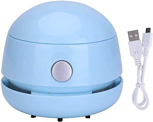 JUJ® Desktop Mini Handstaubsauger Tragbares Auto Konfetti-Reiniger Bleistiftkrümel Radiergummi Krümel Snack Krümelreiniger Weiß-Blau