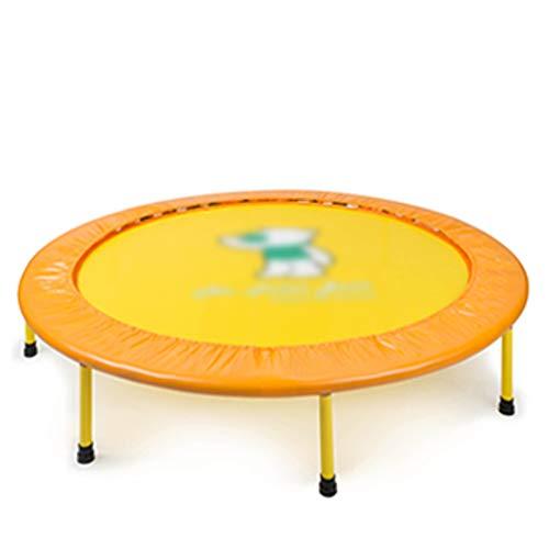 Pinle Fitness de 40'Pulgadas Fitness Trampoline  Trampolín Deportivo for Uso en Interiores y Exteriores  Redánea Profesional Saltando Cardio trampolín  Seguro for niño (Color : Yellow)