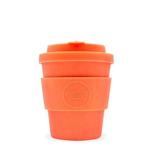 Ecoffee Cup Mrs Mills Tasse à café 250 ml Orange vif | Tasse réutilisable en bambou