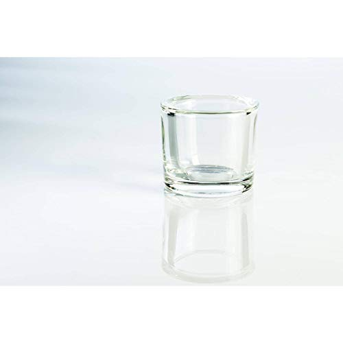 INNA-Glas Set de 6 x Pequeño Vaso Decorativo - portavelas John, Transparente,...