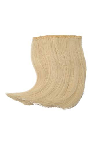 WIG ME UP - Frange clip-in recourbée coiffée raie fibre résistante à la chaleur extension capillaire blond clair lumineux YZF-3038-613
