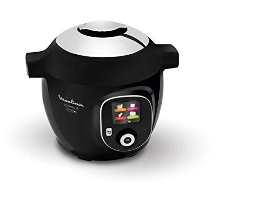 Moulinex Cookeo Connect Multicooker Facile e Veloce con 150 Ricette Italiane Pre Impostate, 6 modalità di Cottura, da 2 a 6 Persone, 1600 W, Acciaio Inossidabile