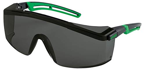 Uvex Astrospec 2.0 Infradur Plus - Gafas protectoras para soldar, color negro y verde