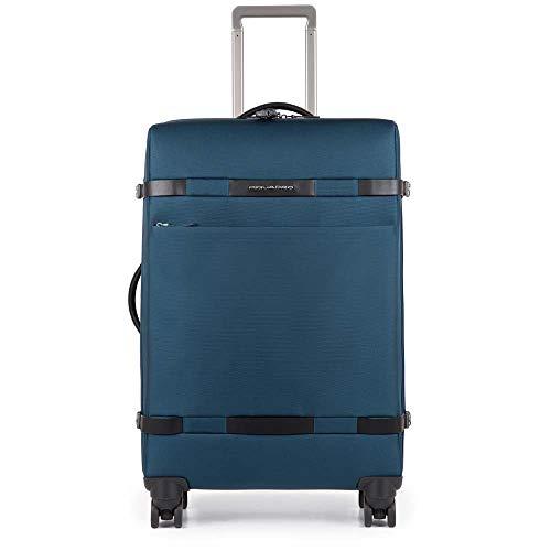 Piquadro Move 2 Trolley, Sintetico, Nero, 65 Litri, 69 cm