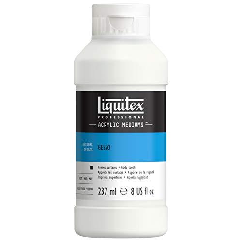 Liquitex 5308 Professional Gesso, Grundierung für Acrylfarben, licht und alterungsbeständiger Primer, gebrauchsfertig - 237ml Flasche, weiß
