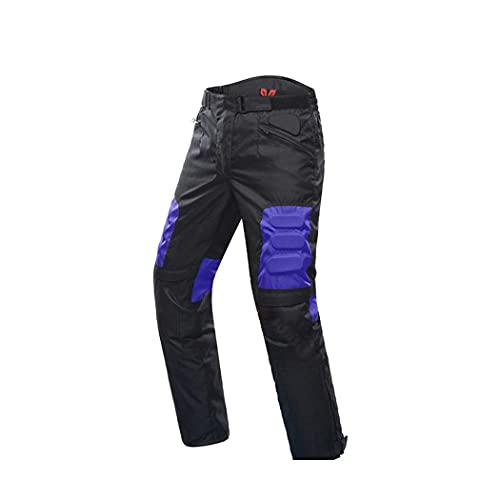 Chaqueta de motocicleta para hombre,Juego de chaqueta y pantalones de moto a prueba de viento,Protector de cadera Pantalones de motocicleta Moto Jacket, Hombre, Only Blue Pants, XXL