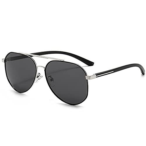 URJEKQ Gafas De Sol para Hombre Gafas Deportivas Polarizadas Gafas De Ciclismo con Protección UV400 Adecuado para Conducir Correr Ciclismo Golf Pesca,Black c
