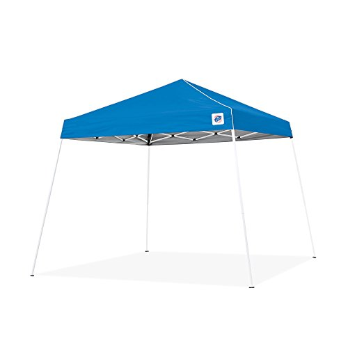 E-Z UP Swift Instant Shelter Canopy, 10' x 10', Angled Leg, Cathedral Ceiling and Powder-Coated...