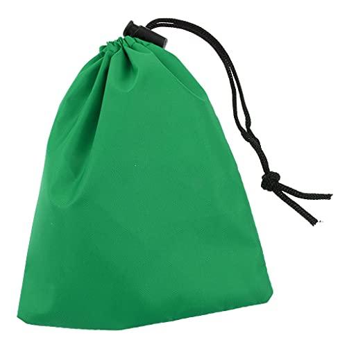 MagiDeal Sac de Rangement Imperméable Pochette en Tissu Anti Poussière pour Camping - Vert, 17CMx14CM