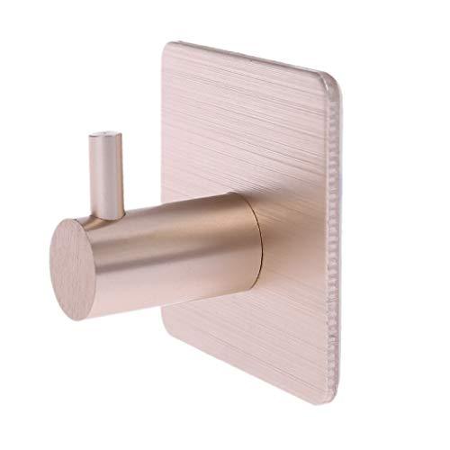 Guoyy Aluminium auto-adhésif de support de serviette de cuisine de support de crochet de porte de mur de cuisine de maison (or)